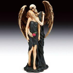 Angel of Death Embracing a Woman Figurine