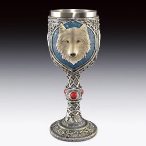 Chalice with Wolf Heads in Blue Circles