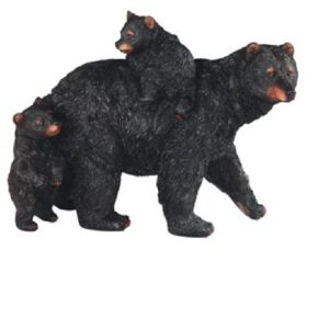 Mother Bear with 2 Cubs Out Walking Figurine
