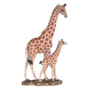 Giraffe Mom with Baby Figurine