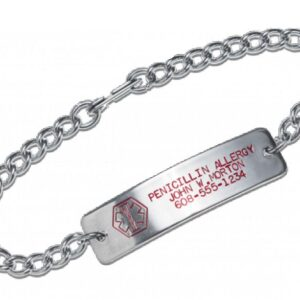 Medic Alert Stainless Bracelet with Emblem
