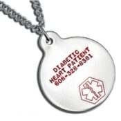 Medic ID Necklace Stainless Large Round ESLE