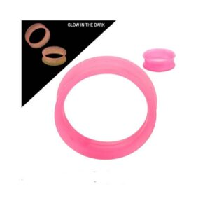Glow in Dark Tunnels in Squishy Hot Pink Silicone