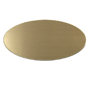 Oval Acrylic Plate with Brushed Finish