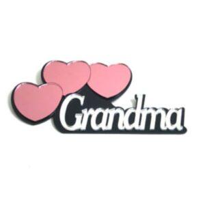 Grandma with 3 Hearts Mirrored Wall Decor