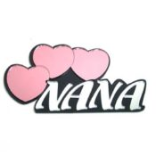 Nana Wall Decor With 3 Hearts For Personalization SBWP216