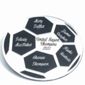 Soccer Ball Wall Decor With Sample Personalization SBWP50