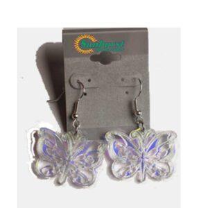 Butterfly Iridescent Dangle Earrings