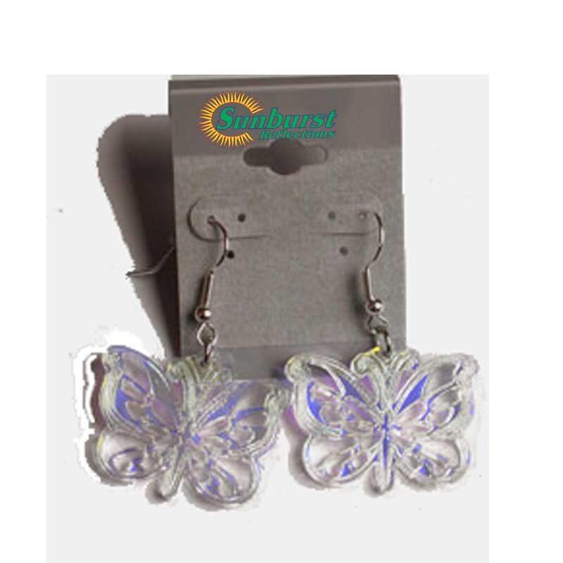 Butterfly Earrings Radiant Acrylic