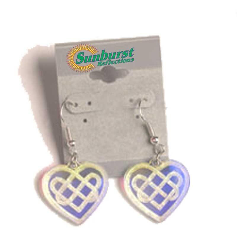 Hearts Celtic Weave Earrings Radiant Acrylic