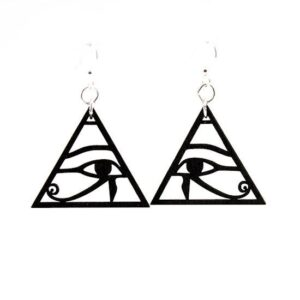 Laser Cut Egyptian Symbol Eye of Horus Earrings