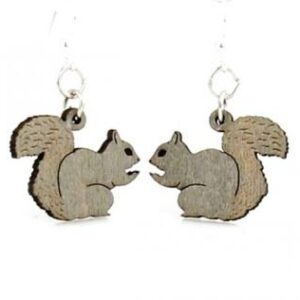 Laser Cut Squirrel Earrings