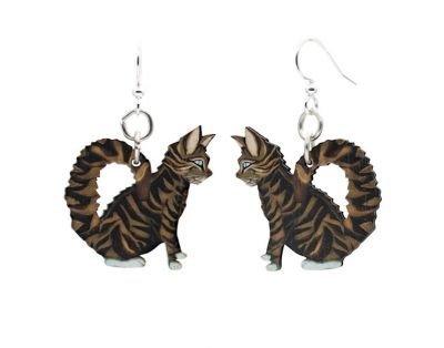 Cat Tabby Earrings GRN1645