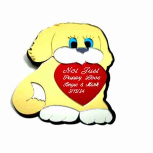 Dog with Heart Mirrored Wall Decor