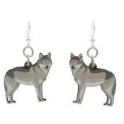 Wolf Grey Full Body Earrings GRN1620