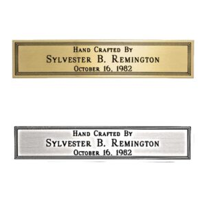 Brass or Silver Engravable Nameplate 5/8″ x 2 7/8″