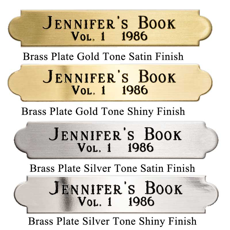 Brass Plate ESF7 0.375 In X 2 In.Finish Variations