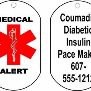 Medic Alert Necklace.