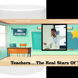 Give the Teacher a Star 11oz Custom Coffee Mug