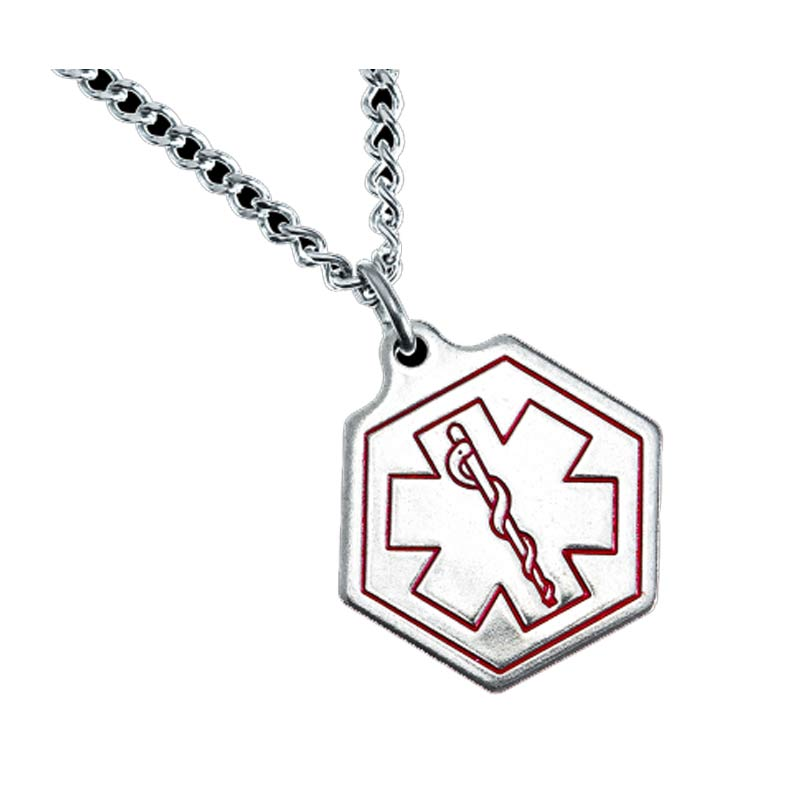 Small Hexagon Medic Alert Necklace MISHE