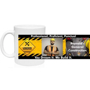 Construction Worker – Contractor 11 oz Custom Coffee Mug