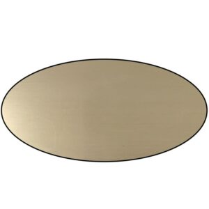 Oval Acrylic Brass Plate From